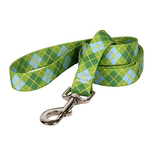 "Yellow Dog Design, Lime Green Argyle Dog Leash, Extra Small 3/8"" x 60"""
