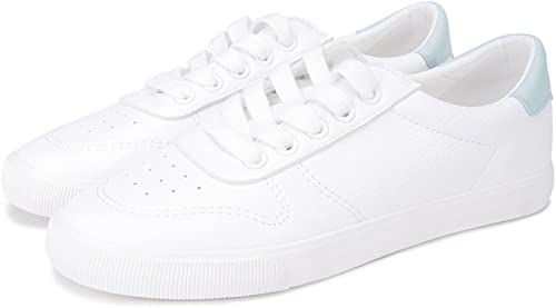 DHG Spring College Wohommes chaussures, Chaussures Chaussures Chaussures de Mode Sweet Lady Fashion, Chaussures Blanches Plates,Vert,36 0cd