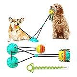 Frondent Juguete Molar Multifuncional para Mascotas,Juguete para Perros con Ventosa, Juguete Molar para Perros Hecho de Goma Termoplástica, Limpieza de Dientes con Función de Cuidado Dental para Perro