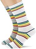 Urban Classics Unisex Rainbow Stripes 2-Pack Socken, Grey/White, 35-38