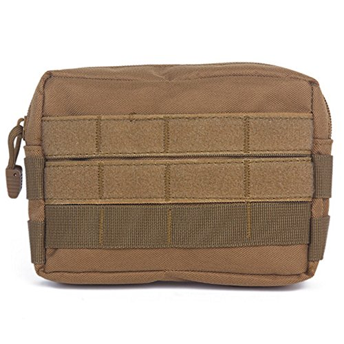 YooGer Molle Pouch, Tactical Backpack Belt Camera EDC EMT Primeros Auxilios para Outdoor Hunting Fishing Camping - Khaki