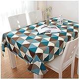 WLI Moderno Mantel para Mesa Rectángulo Mantel Algodón Lino Lavable Manteles 115x245cm Cubierta de Mesa de decoración a Prueba de Polvo para Cocina Comedor Fiesta Jardín
