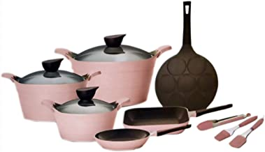 Neoflam Ceramic Eela Cookware Set - 12 Piece - Pink