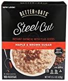 Better Oats Steel Cut Maple Brown Sugar Instant Oatmeal with Flax 15.1 oz. Box