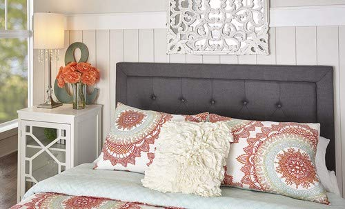 Linon Charcoal Full/Queen Covington Headboard