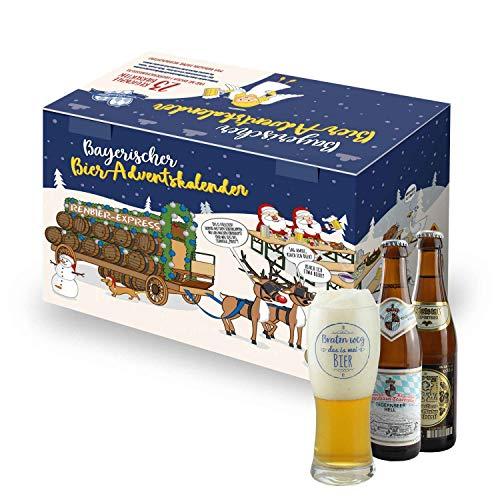 Bayerischer Bier Adventskalender von Bavariashop, mit Bierspezialitäten aus Bayern, Geschenkidee