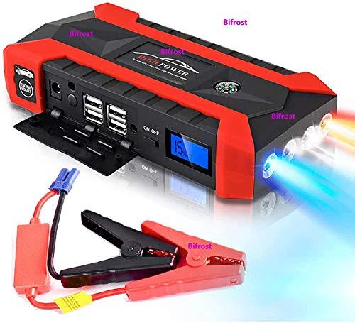 89800mAh Multifunción Arrancador de coche 12V 4USB 600A Portátil Arranque de Emergencia Banco de Energía