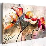 BD XXL murando Impression sur Toile intissee 100x70cm 1 Piece Tableau Tableaux Decoration Murale Photo Image Artistique Photographie Graphique Fleurs 0107-13