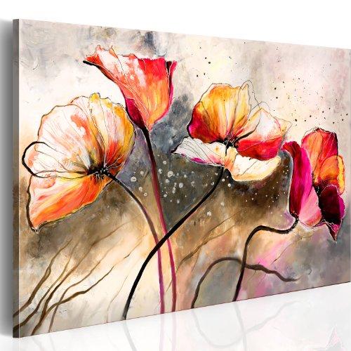 B&D XXL murando Impression sur Toile intissee 100x70cm 1 Piece Tableau Tableaux Decoration Murale Photo Image Artistique Photographie Graphique Fleurs 0107-13