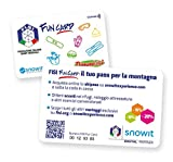 Snowit 2 x Fisi Fun Card - Tesssera skipass Online Multi-località