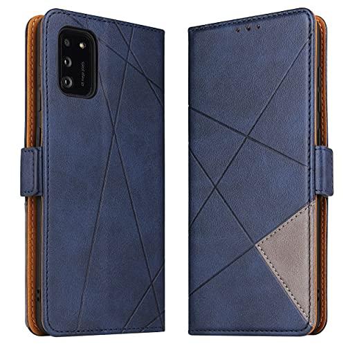 BININIBI Hülle für Samsung Galaxy A41, Klapphülle Handyhülle Schutzhülle für A41 Tasche, Lederhülle Handytasche mit [Kartenfach] [Standfunktion] [Magnetisch] für Samsung Galaxy A41, Blau