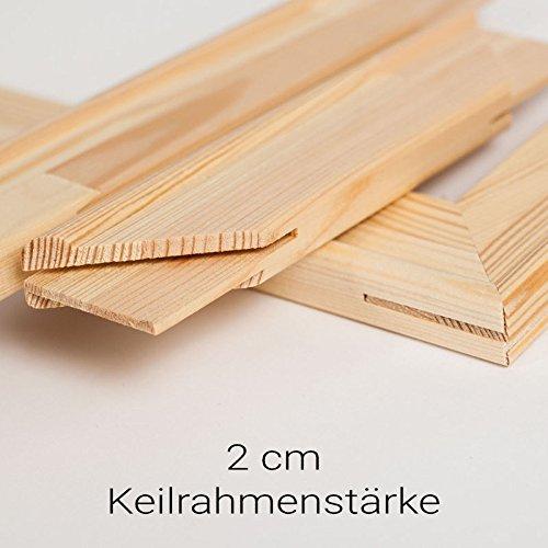 generisch Keilrahmen Bausatz 2 cm Holzleisten Set selbst zusammenbauen ohne Leinwand (70x100)