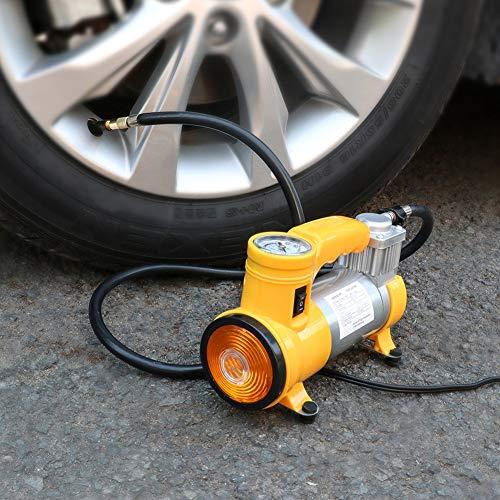 RUNNA Compresor de Aire Auto portátil de la Bomba de Aire del Coche del inflador del neumático con la luz Durable