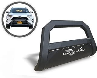 VANGUARD VGUBG-1890-1155BK For Subaru Forester 2014-2019 Bumper Guard Optimus Series Black Bull Bar with Wide Black Skid Plate