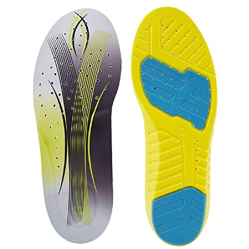 SOFIT Sport Einlegesohlen Memory Schaum Komfort, Atmungsaktiv Laufkomfort für Füße, Beine und Rücken, Fersensporn Gel Optimale Dämpfung - Für Damen & Herren (39-41 EU)