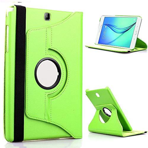 RZL Pad y Tab Fundas para Samsung Galaxy Tab A 8.0, Tablet Case Custer Tri 3 Fold Stand Soporte Funda de Cuero Flip para Samsung Galaxy Tab A 8.0 2018 T387 SM-T387 (Color : 360 Green)