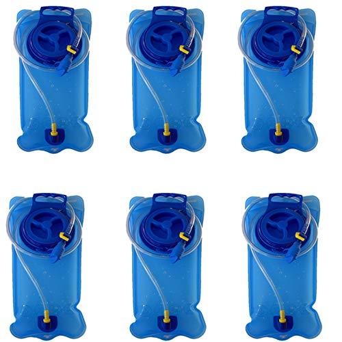 ZQQFR Bolsa De Agua Potable De TPU, Bolsa De Agua para Exteriores Plegable Portátil para Montañismo Bolsa De Agua Potable para Deportes (Seis),Azul