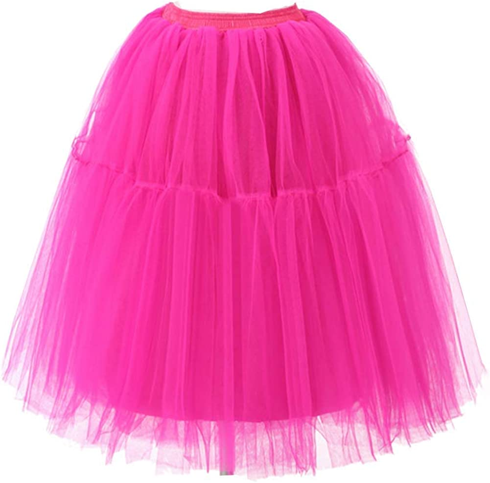 Suave Color S/ólido M/últiples La Enagua De Tul Falda Tut/ú Mujeres Ballet del Traje