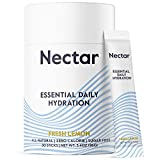 Nectar Electrolyte Hydration Powder Packets, Fresh Lemon 30pk - All Natural - No Sugar, Calories or Carbs – Daily Drink Mix for Rapid IV Dehydration Relief with Magnesium, Potassium, Sodium (30 Pack)