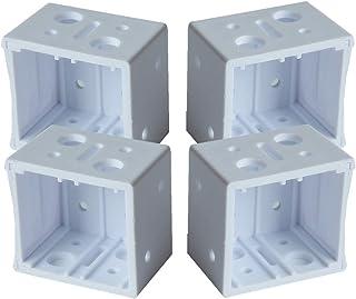 """CUTELEC Plastic Bracket 4pcs White Color for 1"""" Windown Blinds"""