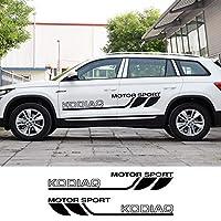 車のステッカー 繊細 デカール フルボディ カー サイド ステッカーFor Skoda Fabia 1 2 3 MK1 MK3 Kodiaq Kamiq Karoq