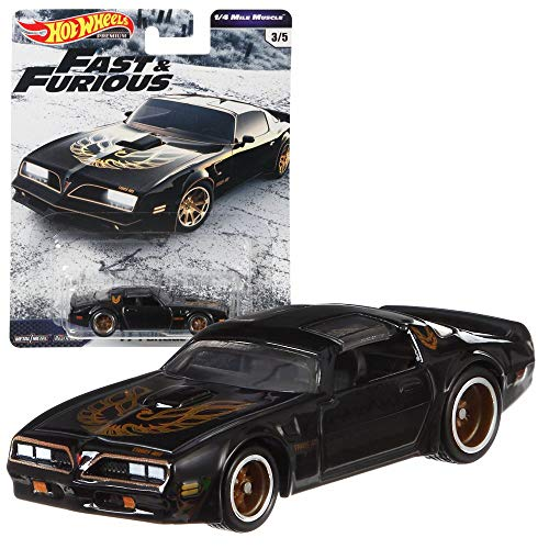 Hot Wheels Fast & Furious 1/4 Mile Muscle Premium Auto Set | Cars Mattel GBW75, Fahrzeug:'77 Pontiac® Firebird® T/A