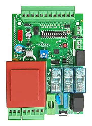 Nologo START-S3XL / 2020 - Placa central universal para puertas correderas, basculantes y cerraduras, compatible con todas las marcas 230 Vac Came FAAC FADINI BENINCA, negro