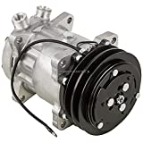 AC Compressor & 132mm Double V-Belt A/C Clutch For Jeep SJ CAT Caterpillar Replaces Sanden SD709 SD7H15 4643 7445 12v - BuyAutoParts 60-02225NA NEW