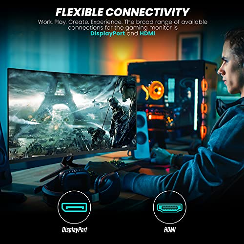 GTEK-Q2765C-27-Inch-Curved-Frameless-Gaming-Monitor-QHD-2K-2560-x-1440P-1500R-VA-1ms-MPRT-165Hz-Supports-144Hz-FreeSync-DisplayPortHDMI-VESA