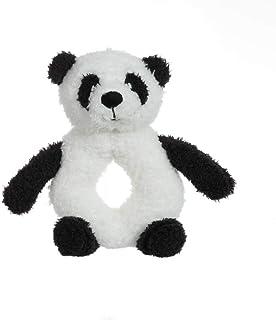 Apricot Lamb Baby Panda Soft Rattle Toy, Plush Stuffed Animal for Newborn Soft Hand Grip Shaker Over 0 Months ( Panda, 4 I...