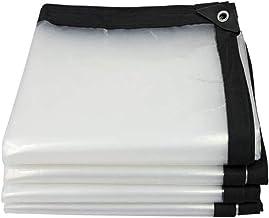 LIXIONG dekzeil transparant verdikt PE winddicht bescherming tegen kou regendoek, 23 maten aanpasbaar (kleur: helder, groo...