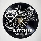 WYDSFWL Reloj de Pared Hunter Disco de Vinilo Reloj de Pared conmemorativo Hecho a Mano Decoración de habitación de Arte 12 Pulgadas con LED