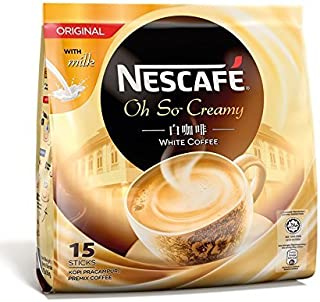 2-Pack Malaysia Best Brand/Nescafé White Coffee/Original With Milk/Creamy White Goodness/Deliciously Rich, Milky, Foamy/Perfect Coffee Fix On-The-Go/2 Packs/30 Sticks Total/ 15s x 36g /pack