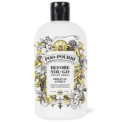Poo-Pourri Before-You- go Refill Bottle, 16 Fl Oz, Original Citrus 16 Fl Oz