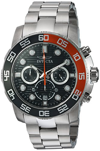 Invicta Men's Pro Diver Quartz Watch with Stainless-Steel Strap, Silver, 10 (Model: 22230)
