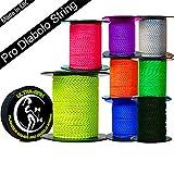 Ultra-SPIN Pro Cuerda Diabolo 25m Carrete (8 Colores!) Actuación, Cuerda Diablo de Alta Velocidad para Todos los Diabolos. (25m FLO Amarillo)