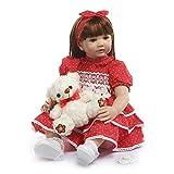 Zero Pam 24 Pulgadas 60 cm Vida muñecas Reales recién Nacido Reborn Toddler Bebe Reborn niña Ojos...