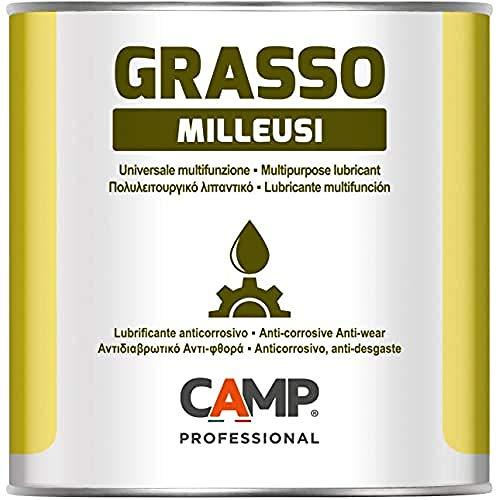 Camp GRASSO MILLEUSI, Grasso Lubrificante Multiuso al Litio NLGI2 ad Alte Prestazioni, Protegge da Ruggine e Corrosione, 1 kg