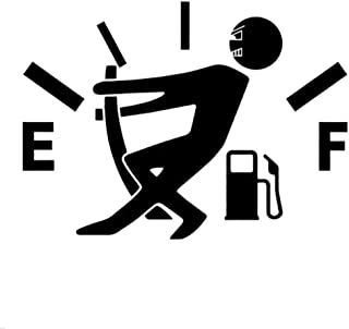 Niome Funny Car Decal Stickers Gas Fuel Gage Empty Styling Reflective Stickers 13cm x 9.5cm Black