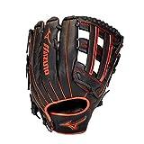Mizuno GMVP1300PSES8 MVP Prime SE Slowpitch Softball Glove 13', Right Hand Throw, BLACK-RED