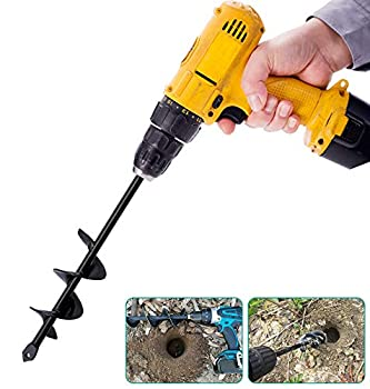 "VIPMOON Garden Bulb Auger Drill Bit - 1.6""x9"" Earth Soil Auger Hex Post Hole Auger Garden Cultivator Hand Drill Digger for Planting"