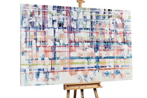 KunstLoft® XXL schilderij 'Rain on Glass' 180x120cm handgeschilderd schilderij
