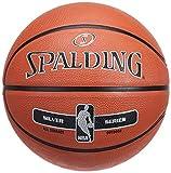 Spalding NBA Silver Outdoor 83-494Z Balón de Baloncesto, Unisex, Naranja, 7