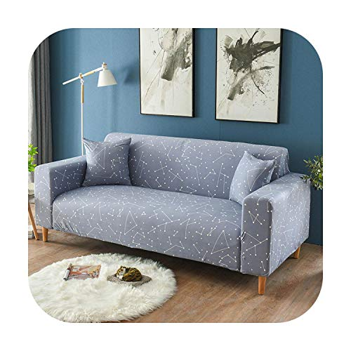 1 funda de sofá con diseño de rayas y elástico. Funda de sofá para salón, mascotas, sofá L, forma de funda de silla de 1/2/3/4 plazas, Pattern 24, 1-seater 90-140cm
