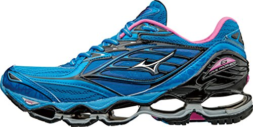 Mizuno WAVE PROPHECY 6, Scarpe running donna, DivaBlue/Silver/Electric, 39 EU