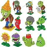 Klycbds 11 Piezas Plants Vs Zombies Figuras Bloques De Construcción Figuras De Acción Legoed Juego De rol Batallas Juguetes De Aprendizaje para Niños Juguetes De Colección