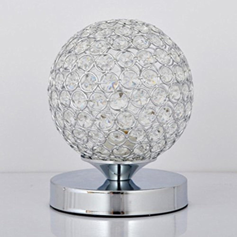 SSQ-CXOKristalllampe 5W, E27 Lampenkopf, Tastenschalter Kugelfrmige Lampe Wohnzimmer Nachttischlampe