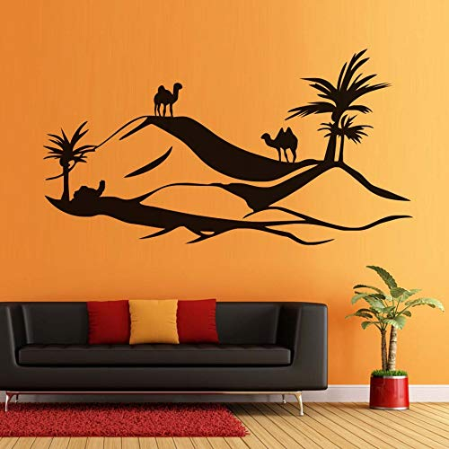 mlpnko Desert Wall Decal Kamel Wandaufkleber Hollow Home Decoration Szene Wandkunst,CJX11027-165x88cm