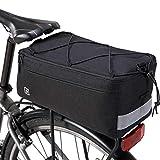 Bike Trunk Cooler Bag Bicycle Rack Rear Carrier Bag Commuter Bike Luggage Bag for Warm or Cold Items