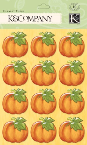 K&Company Clearly Yours Pumpkin Stickers